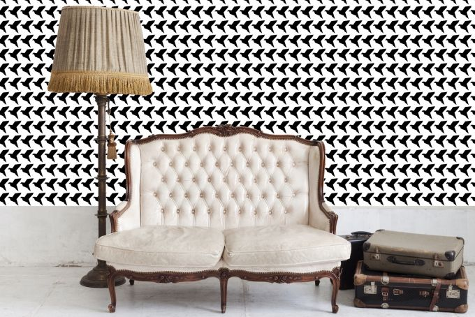 Black and White Origami Birds Wallpaper by handmade by me on hellopretty.co.za