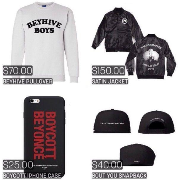 Beyonce Tour Merchandise