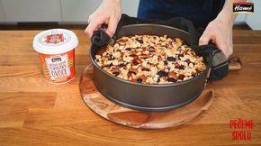 Úžasný mandlový koláč s višňovou náplní - VIDEO