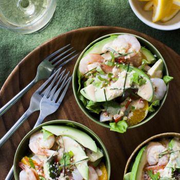 Asian Avocado, Prawn and Orange Salad