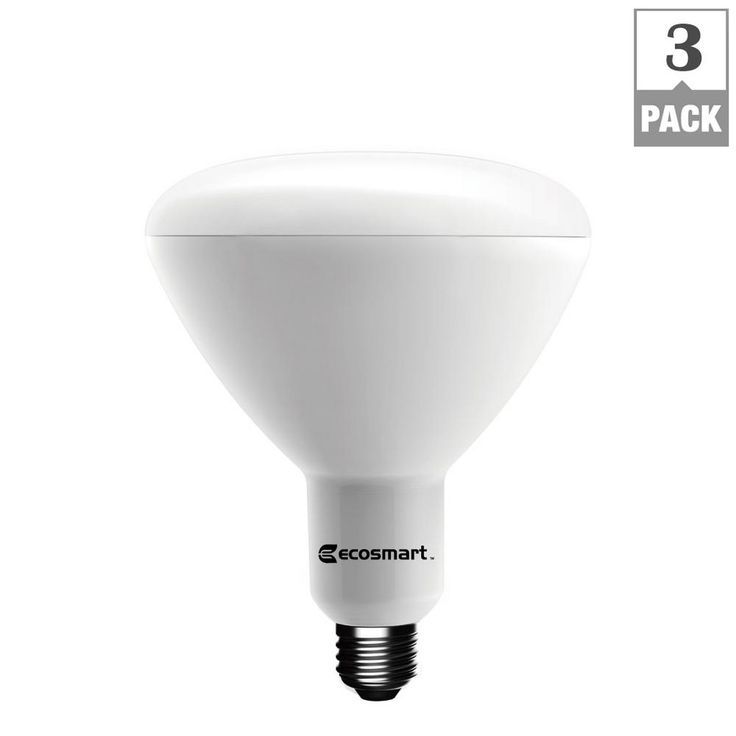 EcoSmart 75W Equivalent Soft White BR40 Dimmable LED Light Bulb (3-Pack)