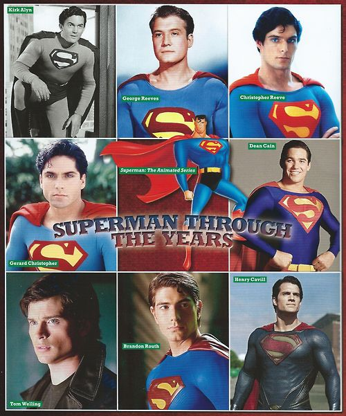 Superman throughout the years...my favorite will always be Christopher Reeve.