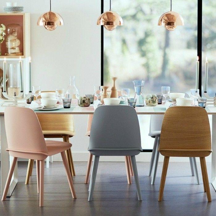 Moderne Stuhle Esszimmer Skandinavische Zuge Pastellfarben
