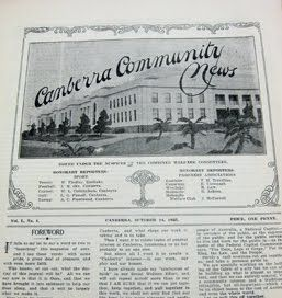 Canberra Community News - a rare full set of 24 issues from 1920s