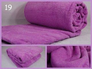 Plyšová dekorativní deka světle fialové barvy