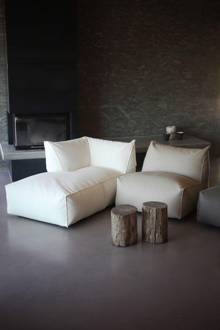 Corner fabric bean bag PUFFONE   Corner armchair - GART Art & Design Group