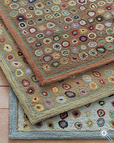 Hooked wool rugs from Garnet Hill