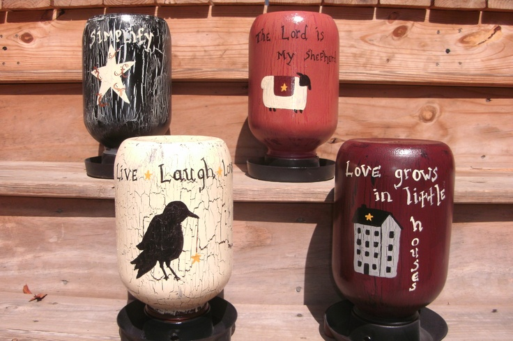 Prim Painted Heart Wall Candle Holders