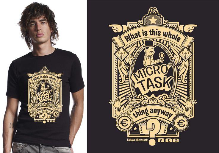 T-Shirt Design for MicroTask by RAKHA | T-Shirts | Pinterest ...