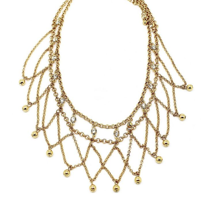 Women's Oversized Cut-Out Choker Necklace - White, Gold