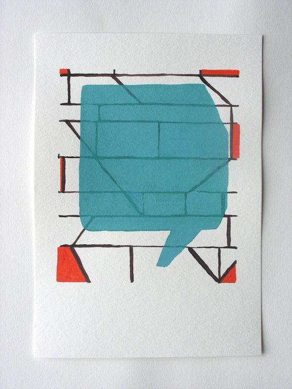 Rohan Hartley Mills, Acrylic on paper,   BureauofAbstractions