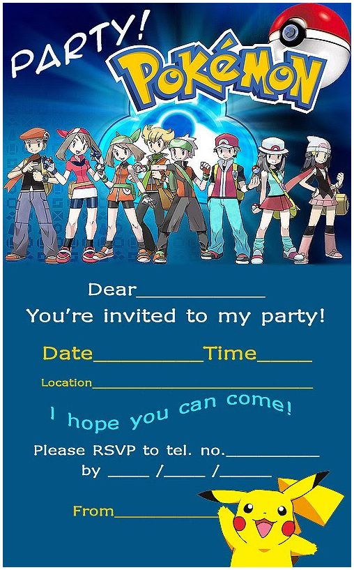 355 Best Pokemon Printables Images On Pinterest | Pokemon, Wedding  Invitations
