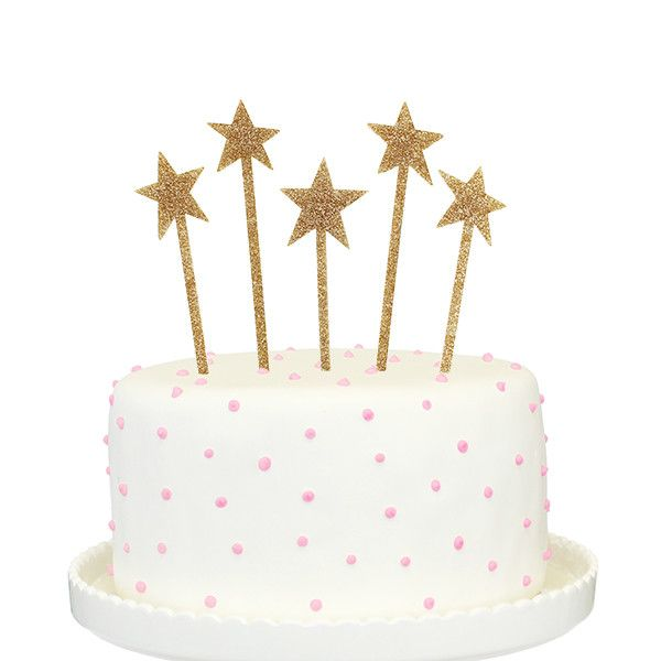 Isn't our Glitter Shooting Stars Cake Topper Adorably Cute? Cakes should always have a statement piece. - Gold in Color - Each Star Measures 1.5 Inches by 6.5 Inches, including stakes - Made from a Hi