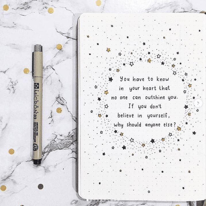 12 Quote Layouts for Your Bullet Journal + Inspirational Quotes