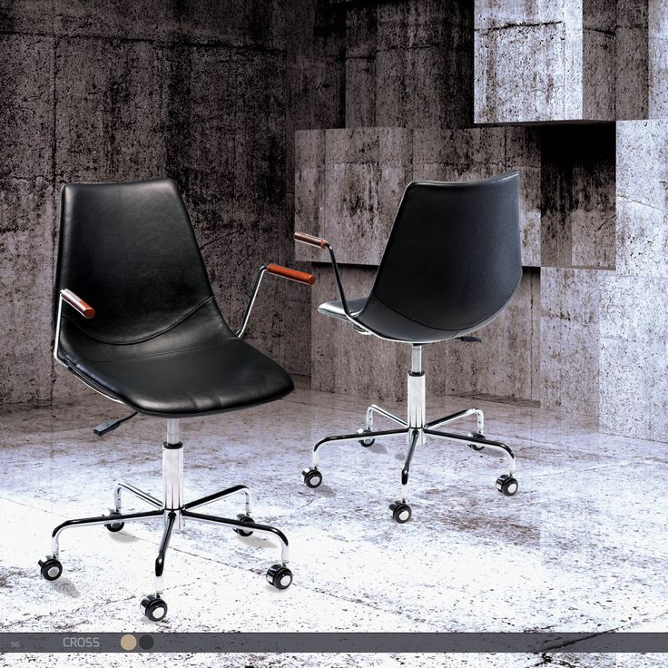 CROSS Office Chair - Leather with chrome base
