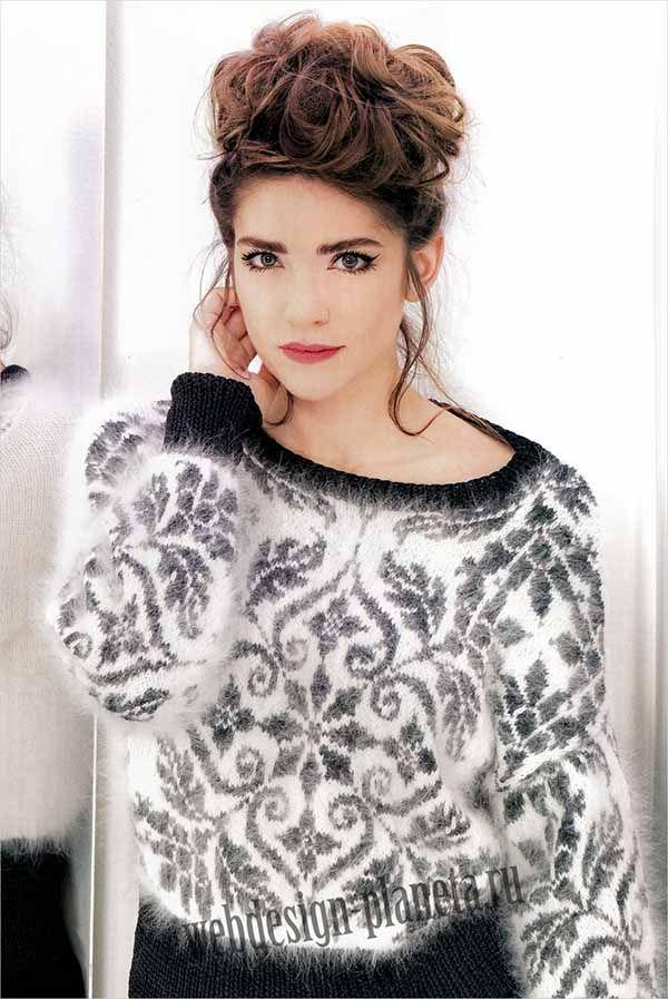Разве можно зимой обойтись без такого красивого пуловера спицами, на котором словно иней нарисовал волшебные узоры и снежинки танцуют свой таинственный танец....Размеры: 34-36, 38-40, 42-44, 46-48, 50-52..Для выполнения пуловера спицами нам нужно...