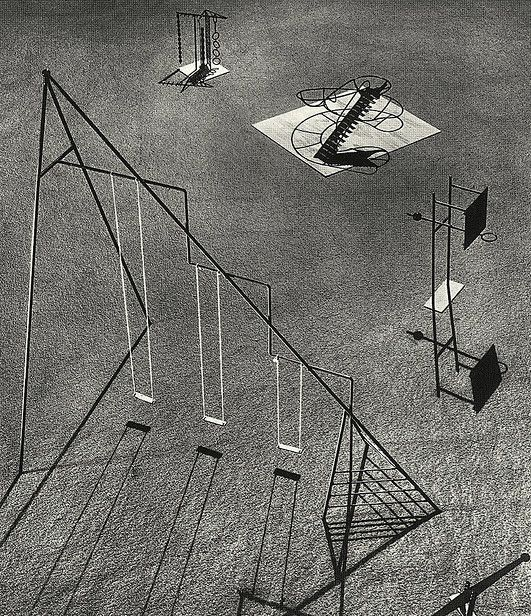 """Isamu Noguchi's Playground Equipment    """"Noguchi's playground equipment designs were criticized on the grounds they were too dangerous. These models were developed as part of a design for a playground to be constructed in Hawaii, but remained unrealized."""" [via]"""