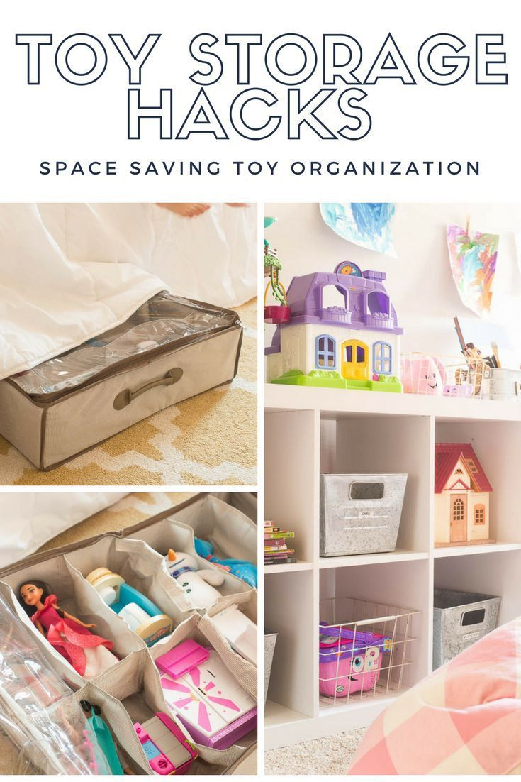 Tackle clutter once and for all with these smart toy storage hacks. DIY storage   kids spaces   playroom   toy organization #bhglivebetter #ad http://www.makinghomebase.com/toy-organization-hacks/