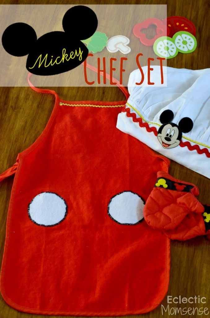 Chef Mickey Apron, Hat & Oven Mitt - Eclectic Momsense #mickey #disney #disneyside