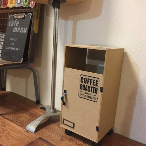 ダイソーのMDF材だけで、サイドテーブルにもなる2WAYのゴミ箱カバーをDIYしてみました♪