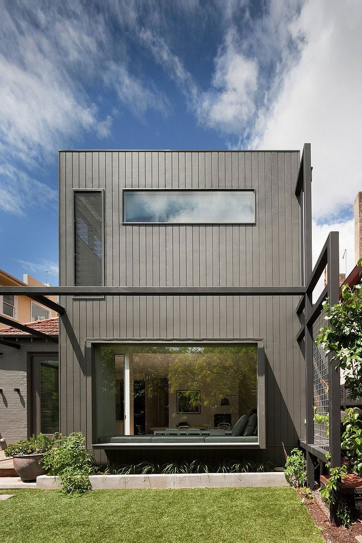 Elwood Residence by Robson Rak Architects  Made by Cohen Break up with render (white) and possibly some exposed brick