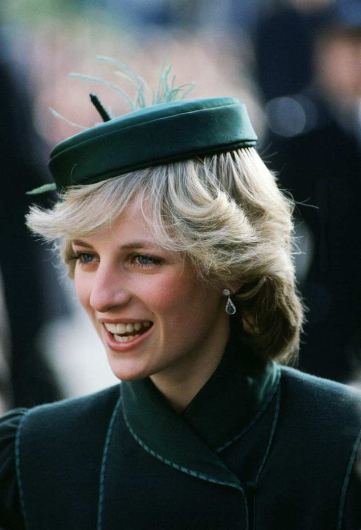 Princess Diana attends a charity concert at the Royal Albert Hall in London wearing a John Boyd hat February 3, 1983.