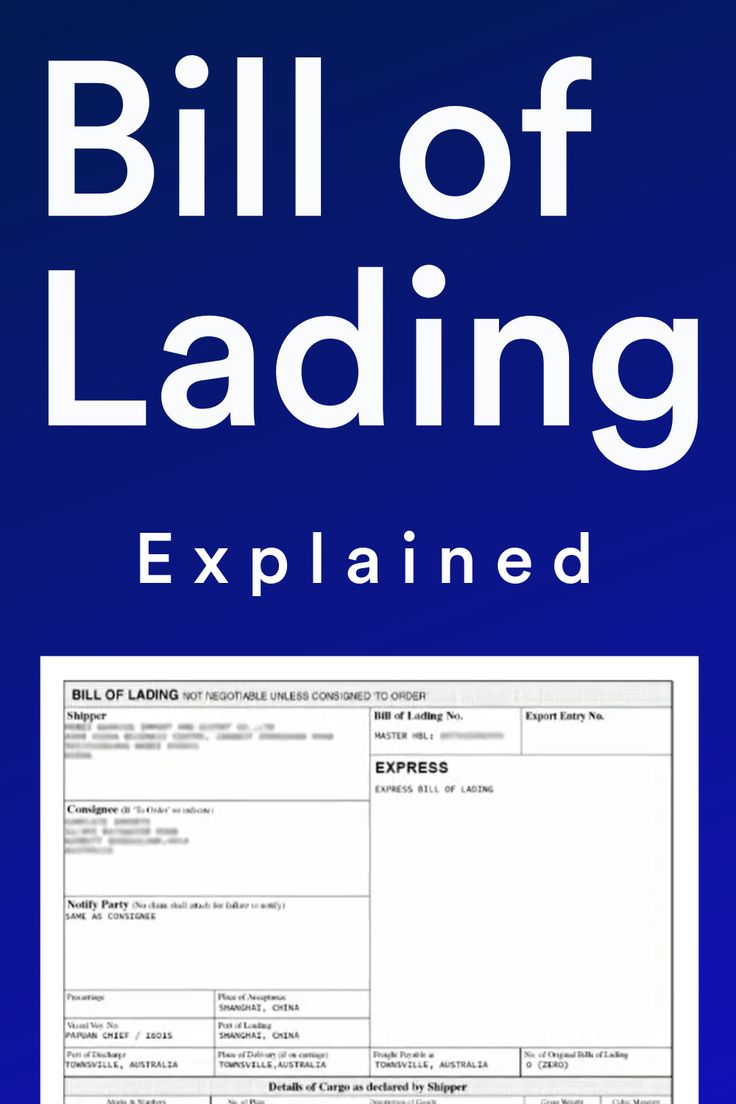 Bill Of Lading Document Explained For Export Import Bill Of Lading Import Business Bills Shippers letter of instruction template