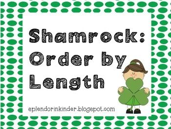 St+Patricks+Day+Theme:  Students+will+cut+out+the+shamrocks+and+put+them+in+order+from+shortest+to+longest/smallest+to+biggest.