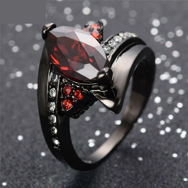 "*Gorgeous* 10kt Black Gold Gothic / Victorian Style Ruby ""Cats Eye"" Ring now for sale on Ebay! Must see, it'd make an excellent Christmas Gift (for you or someone you love!) Only $99.99 (or best offer) with 100% FREE shipping!"