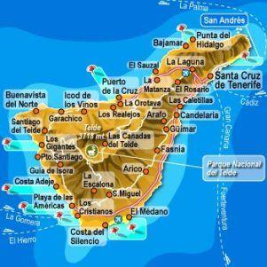 Tenerife es la isla más poblada del archipiélago y es conocida más por el Carnaval de Santa Cruz de Tenerife. Es considerado el segundo carnaval más popular y conocido internacionalmente después de la fiesta en Río de Janeiro. En la ciudad de San Cristóbal se sitúa La Universidad de La Laguna.