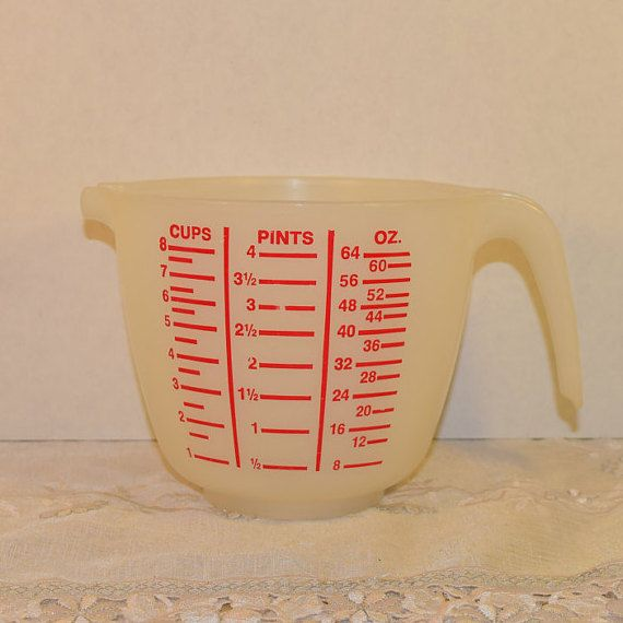 Tupperware 8 Cups Measuring Bowl Vintage by ShellysSelectSalvage