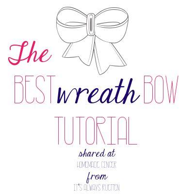 Wreath bow tutorial