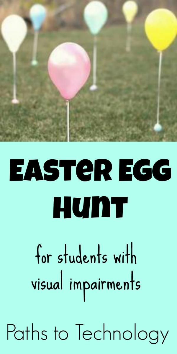 Easter Egg Hunt for students with visual impairments