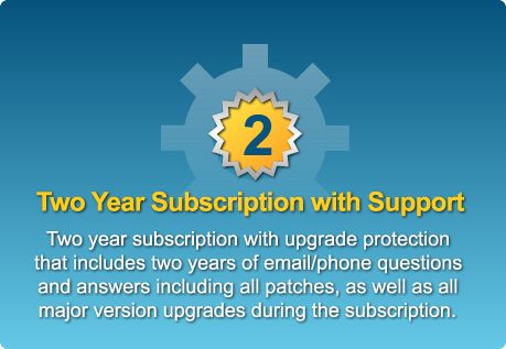 At least one major version upgrade is guaranteed even if the subscription has expired.
