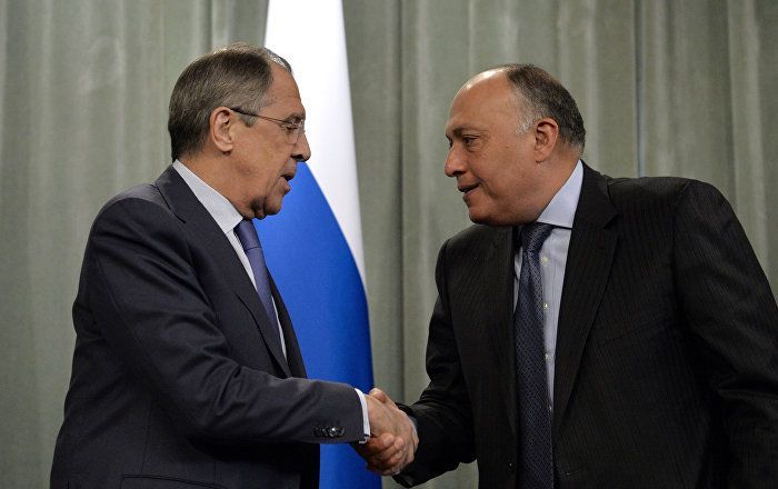 Russian, Egyptian Foreign Ministers Discuss Syria Crisis Settlement
