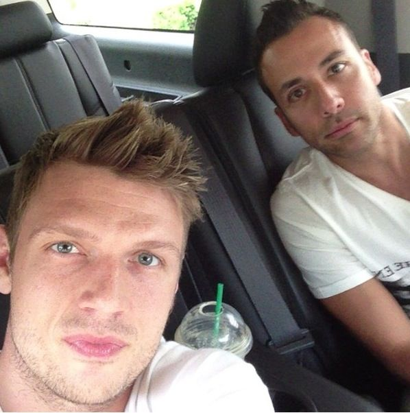 Photo of Nick Carter & his friend   -