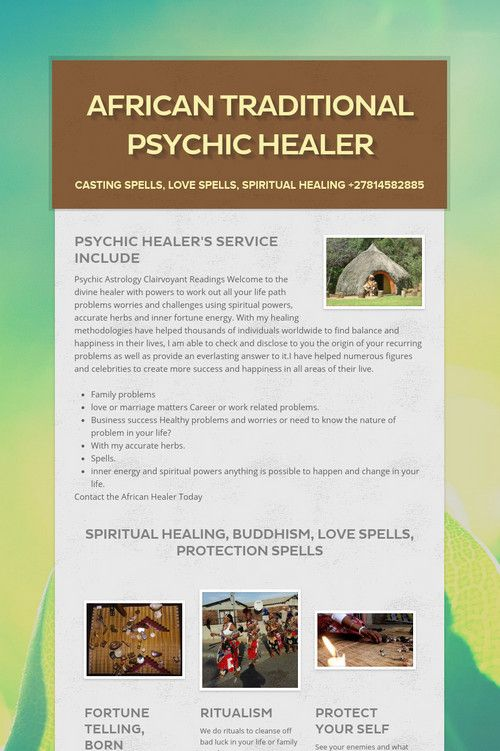 African Traditional Psychic Healer