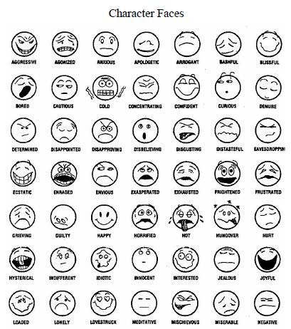 Feeling Faces Coloring Pages Emotion faces, Feelings