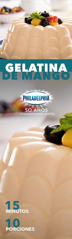 Esas tardes de antojo en el trabajo son inevitables, por eso consiéntete con esta Gelatina de mango. #recetas #receta #quesophiladelphia #philadelphia #quesocrema #queso #comida #cocinar #cocinamexicana #recetasfáciles #recetasPhiladelphia #recetasdecocina #comer #gelatina #mango #recetaspostres #postre #postres #mangos #recetasconmango