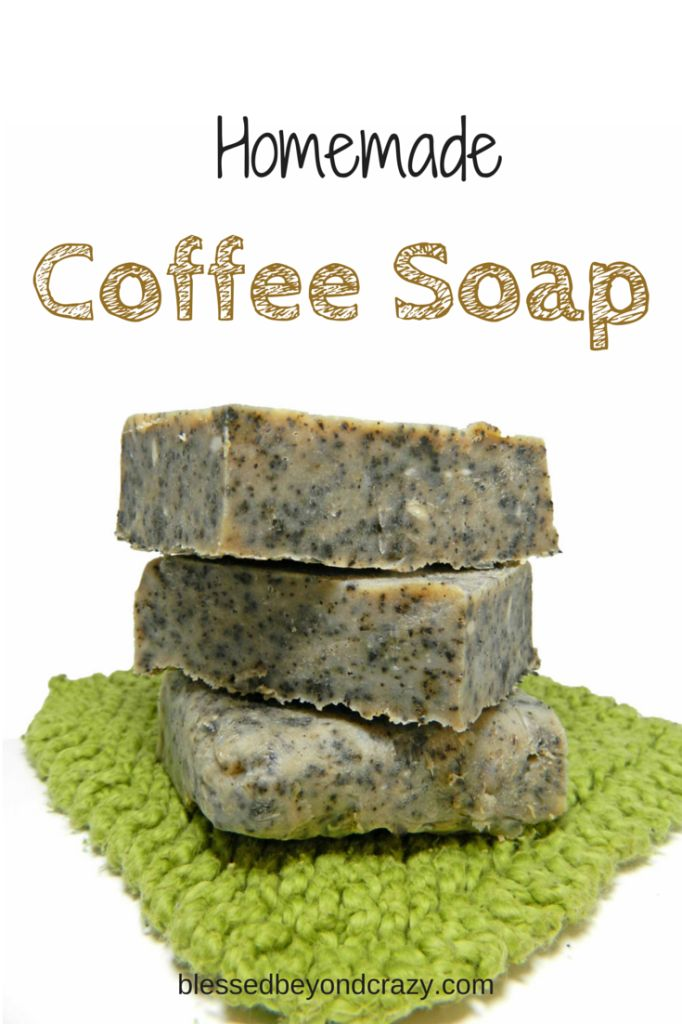 Homemade Coffee Soap Easy to make with simple ingredients.  Hot process soap making with lots of pictures and descriptions for beginners.