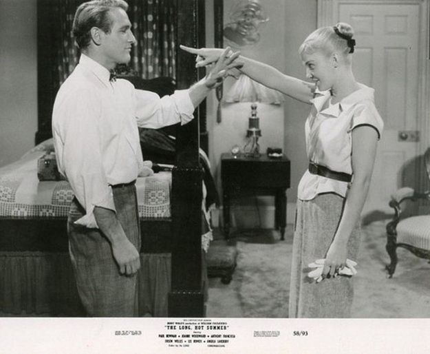 Joanne Woodward + Paul Newman: 8216 The Long, Paul Newman, Hot Summer 8217, 1958, Newman Woodward, Joanne Woodward, Classic Hollywood, Long Hot, Mobile Buzzf