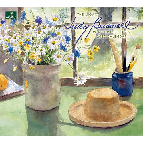 Watercolors Wall Calendar: Brighten up your days with Legacy's 2013 Wall Calendar featuring the still life and floral watercolor art of Judy Buswell. This 12-month calendar is printed on high-quality, linen-embossed paper that has a distinctive, luxurious feel to it, and comes in a protective envelope.  $15.99  http://calendars.com/Assorted-Folk-Art/Watercolors-2013-Wall-Calendar/prod201300003942/?categoryId=cat00033=cat00033#