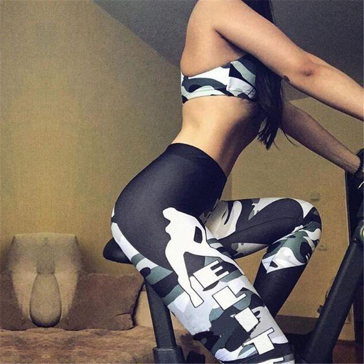 Camouflage Leggings Army Workout Clothes Women High Waist Camo Leggings Sportswear Female Skinny Fitness Leggings