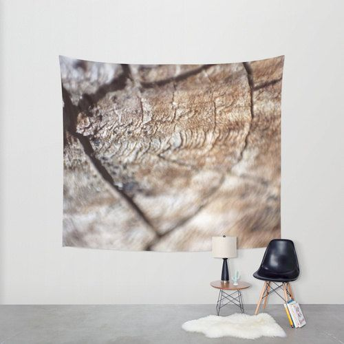 Rustic Wood Look Hanging Tapestry  Nature Wall Tapestry