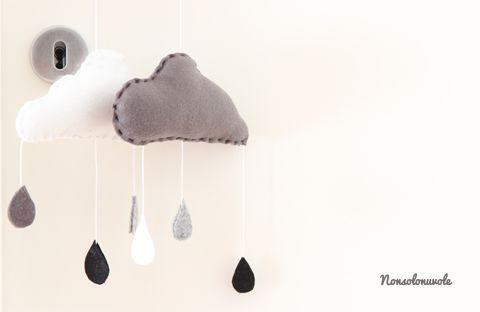 """Nonsolonuvole   Nuvole fatte a mano per una cameretta in puro stile """"Black & White"""""""