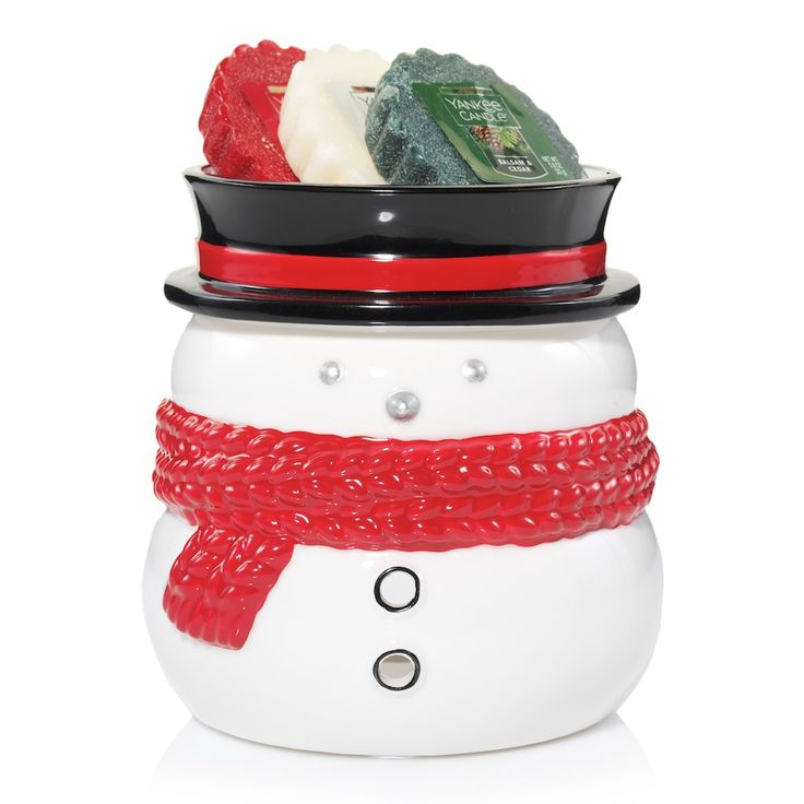 Yankee Candle Snowman Tart Wax Melt Warmer 4-piece Set, Multicolor
