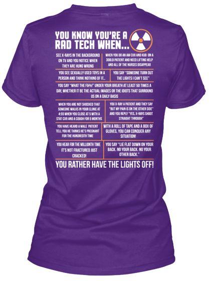 When You're A Rad Tech... | Teespring