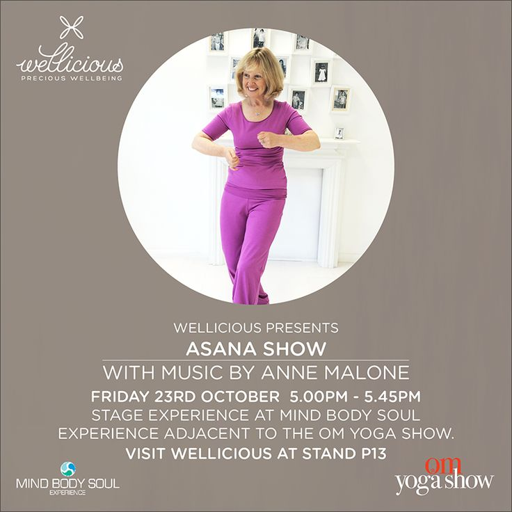 Wellicious presents: our Wellicious friend, the loving Anne Malone will be sharing her passion and lead us through a musical show accompanied by Wellicious Ambassadors at the OM Yoga Show 2015 in London. The show will take place on Friday Oct 23 17.00-17.45 at the Mind Body Soul Experience next door to the OM Yoga Show. Access is free for OM Yoga Show ticket holders! Annie will be wearing our current AW15 collection. While you're there come and visit us at our Wellicious stand P13. OM…