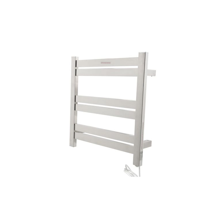 anzzi starling 6bar stainless steel wall mounted electric towel warmer rack in polished chrome