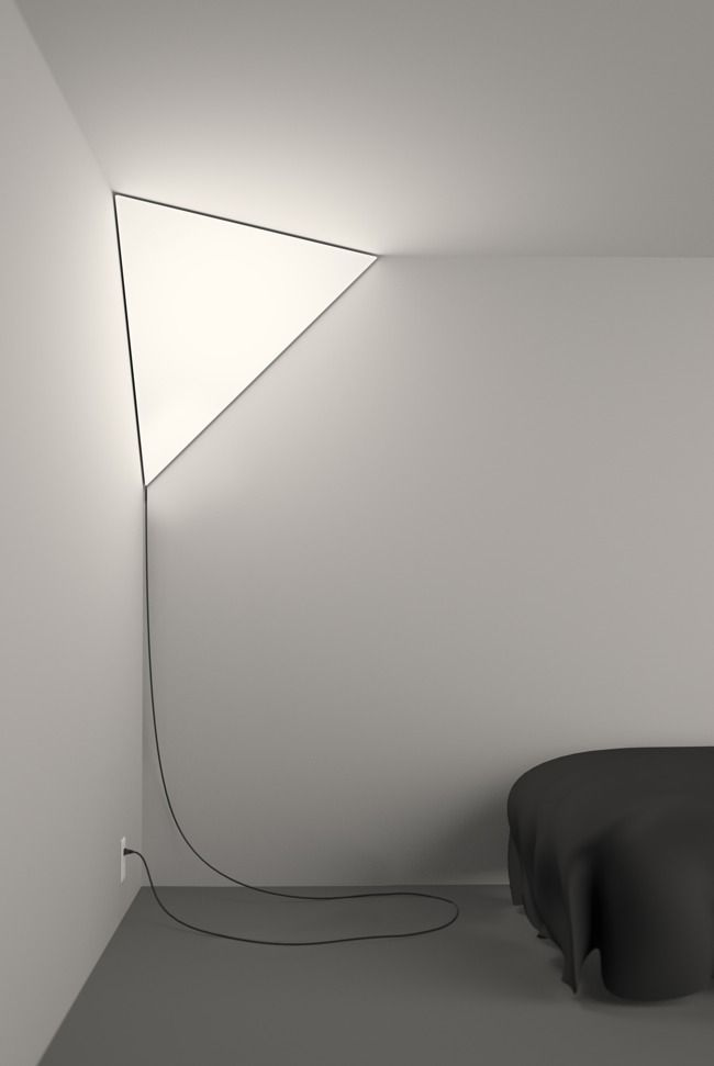 Corner light...so cool! but i would have to hide the ugly